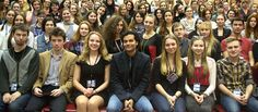 University students pose with Ravi following his presentation in Saint Petersburg Russia