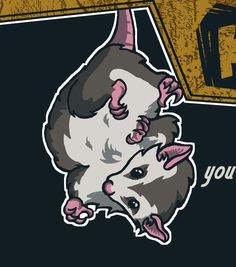 possum tattoo, im goin to get this one day because a lady whom I considered a grandma called me possum R.I.P. Kathy