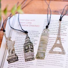 Cheap London Elizabeth Torre Eiffel Estatua De La Libertad Del Libro del Metal Marcadores Señal Del Metal