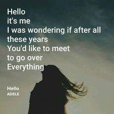 Hello by Adele, brand new song lyrics.