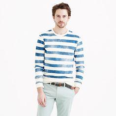 J.Crew+-+Lightweight+sweatshirt+in+distressed+stripe