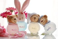 KALOO Components: The small bottle is constituted by unbreakable glass and it's plump. On the bottle there is a teddy head to close it. There is a strong impact for children who are attracted by basic toys. They can have a prescriber role to parents. Colors used are pastels and sweets. Communication: It's better to have all of teddies to play and to have osmosis between colors. Separated we don't know which bottle we want. There is also a link with parents: children can do like them.
