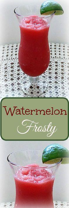 Watermelon Frosty , Recipe Treasures