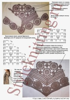 Irish lace, crochet, crochet patterns, clothing and decorations for the house, crocheted. Irish crochet &: Very showy tunic motives Poncho – Delicadezas al Crochet images attach c 9 105 332 Tunica openwork of motives. Pull Crochet, Crochet Girls, Crochet Jacket, Crochet Woman, Crochet Cardigan, Crochet Shawl, Knit Crochet, Crochet Leaves, Irish Lace