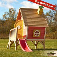 Swing-N-Slide Hide-N-Slide Playhouse with Slide (Hide-N-Slide Playhouse), Red Playhouse With Slide, Kids Playhouse Plans, Kids Indoor Playhouse, Outside Playhouse, Swing And Slide, Backyard Playhouse, Build A Playhouse, Wooden Playhouse, Backyard Kids