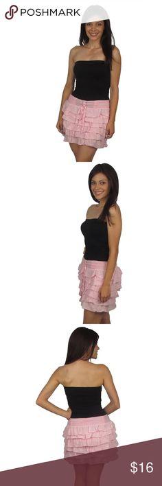 Pink Skirt Basic layered short skirt. New! Skirts