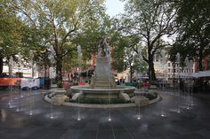 Leicester Square Plaza Fountain