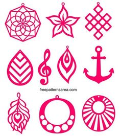 Free Svg Cutting Templates For Faux Leather Earring Diy Leather Projects, Leather Craft, Boli 3d, Diy Leather Earrings, Cricut Craft Room, Jewelry Drawing, 3d Prints, Cricut Creations, Vinyl Crafts