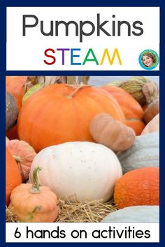 Do you need some easy ideas and activities to make your fall pumpkin unit shine?  This fun resource covers science, technology, engineering art & math skills (STEM) for preschool, kindergarten and first grade students.  Pumpkins aren't just for Halloween - they're great for teaching life cycles, measurement, reading, predicting, graphing and creativity!  Kid tested and approved!