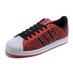 Adidas Superstar V20132 Czerwone Czarne Biale