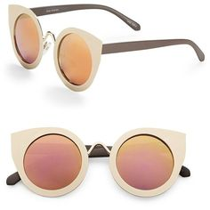 Quay Australia 51mm Tainted Love Cat Eye Sunglasses ($50) ❤ liked on Polyvore featuring accessories, eyewear, sunglasses, gold, cateye sunglasses, lens glasses, uv protection sunglasses, cateye glasses and quay eyewear
