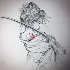Japanese Tattoos 794463190498428795 - Tatouage geisha Source by Tatoo Geisha, Geisha Drawing, Geisha Tattoo Design, Geisha Tattoos, Irezumi Tattoos, Drawing Art, Geisha Tattoo Sleeve, Drawing Ideas, Samurai Drawing