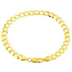 "10k Yellow Gold Cuban Bracelet, 8"" $859.00"