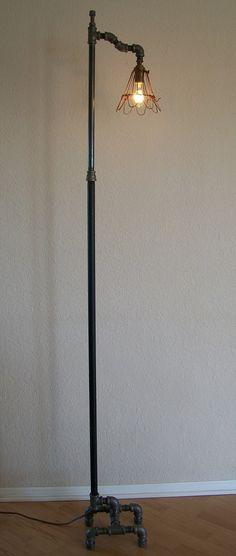 Industrial Floor Lamp by Splinterwerx on Etsy, $275.00