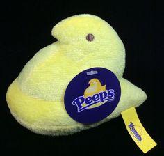 0c3fa607dceb3 Peeps Yellow Chick Plush Soft Toy New Stuffed 4.5