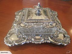 STUNNING SILVER BUTTER DISH | Trade Me
