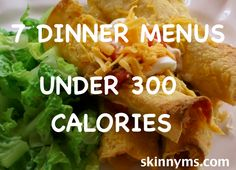 Our #low-calorie dinner menu has recipes that are packed with flavor.  Your family will never guess they're low-cal.