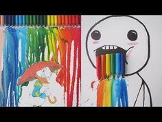 DIY #16: Quadro com giz de cera derretido / Melted Crayon Art - YouTube