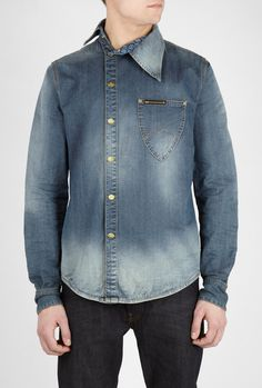 Shop Men's Vivienne Westwood Anglomania Jeans on Lyst. Track over 217 Vivienne Westwood Anglomania Jeans for stock and sale updates. Denim Button Up, Button Up Shirts, Ossie Clark, Lee Denim, Denim Shirts, Vivienne Westwood Anglomania, Latest Mens Fashion, Denim Fashion, African