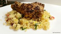 Harissa Spiced Chicken with couscous is packed with robust flavours that will leave your taste buds wanting more (like literally). I love to try new foods and flavours. Chicken Rub, Chicken Spices, Couscous How To Cook, Fennel, Baking Pans, Fried Rice, New Recipes, Fresh, Dishes