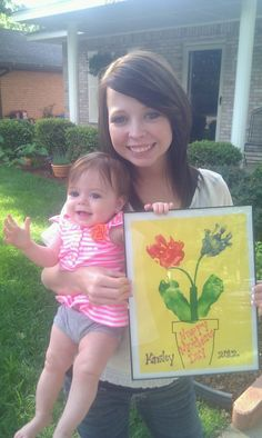 1st Mother's Day gift for her mommy...Kinsley, job well done!