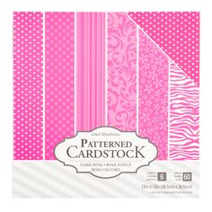 """Core'dinations 12"""" x 12"""" Patterned Cardstock 60 Pack - Light Pink"""