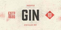 The Gin font family, a decorative vintage typeface. The Gin font is a decorative vintage display type family designed by Mattox Shuler (Font Publisher: Hol Typography Love, Typography Inspiration, Typography Letters, Design Inspiration, Top 10 Fonts, New Fonts, Type Fonts, Hipster Fonts, Web Design