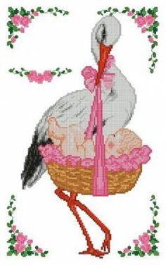Аист (девочка) - Метрики - Детям - Схемы в XSD - Кладовочка схем - вышивка крестиком