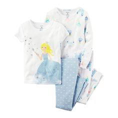 Toddler Girl Carter's 4-pc. Graphic & Print Pajama Set, Size: