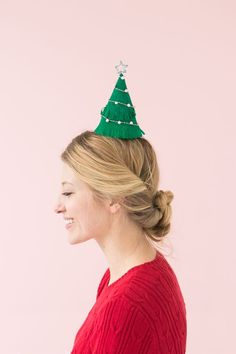 Christmas Tree Party Hats | Oh Happy Day! | Bloglovin'