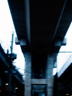 """""""What am I doing here, I asked myself. There was no answer."""" #photography #words #quotes #blurry #railway #city #tokyo #structure #dark #pale #sad #ahsheegrek"""