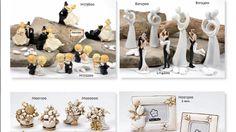 Coppie di sposi, miniature e cornici in resina