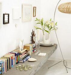 Best Cheap Home Decor Websites - Affordable Home Decor Floating Shelf Under Tv, Floating Desk, Affordable Home Decor, Cheap Home Decor, Living Room Inspiration, Interior Inspiration, Home Decor Websites, Concrete Furniture, Elle Decor
