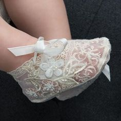 Jessica Girls Lace Booties Side