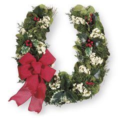 festive horseshoe wreath western wear equestrian inspired clothing jewelry home dcor - Horseshoe Christmas Wreath