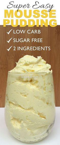 low carb, sugar free dessert pudding! Heavy whipping cream & sugar free jello pudding mix.