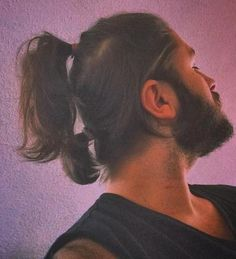 two ponytails men's hairstyle