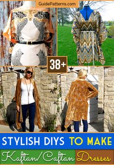 The kaftan is part and parcel of the tradition of early Middle East fashion. It is a type of tunic or robe that is worn like an overcoat typically covering the… Kaftan Kurti, Kaftan Gown, Crochet Lace Edging, Crochet Borders, Kaftan Pattern, Js Everyday Fashion, Beach Kaftan, Boho Fashion, Diys