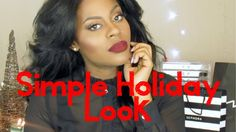 🎄Simple Holiday Look 🎄 Mac Fix Plus, Urban Decay All Nighter, Makeup Tutorials Youtube, Holiday Looks, Sephora, Simple