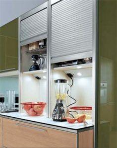 Muebles persianas para la cocina