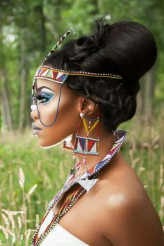 Ethnic Avant Garde Photoshoot || Photographer Marc Joseph. Modelling Carra Diamante. @rubylanecom handcrafted jewelry