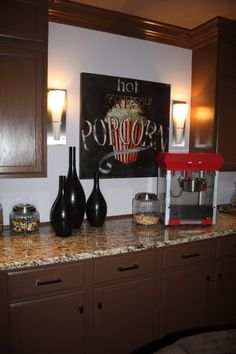 Some people have bars in there home, I would invest in this....a popcorn bar!!