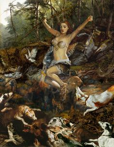 Atalanta, is a character in Greek mythology, a virgin huntress, unwilling to marry, and loved by the hero Meleager.