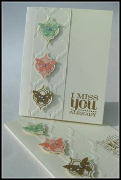 handmade card from stamping up north ... like the layout of this card with the sentiment block next to a wide column of embossing ... Mosaice Madness suite and butterflies ... Stampin'Up!