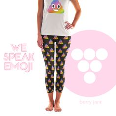 Berry Jane for the largest selection of unique #Emoji print activewear!  www.berryjaneusa.com