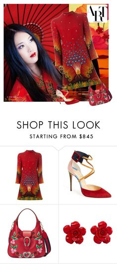 """""""Kimono"""" by deborah-strozier ❤ liked on Polyvore featuring Valentino, Christian Louboutin, Gucci and Chanel"""