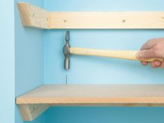 DIY+Network+shows+you+four+different+ways+to+hang+custom+shelving.+