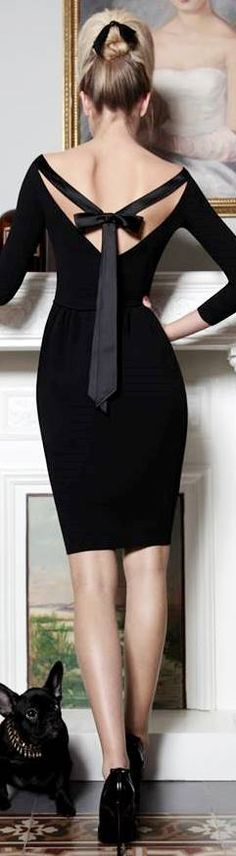 little black dress with bow back