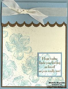 Michelle Reynold's inspiration ink typepad - uses Stampin Up's Everything Eleanor and You are Loved stamp sets