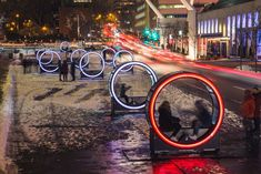 LOOP'S GIANT ILLUMINATED WHEELS TAKE OVER THE PLACE DES FESTIVALS